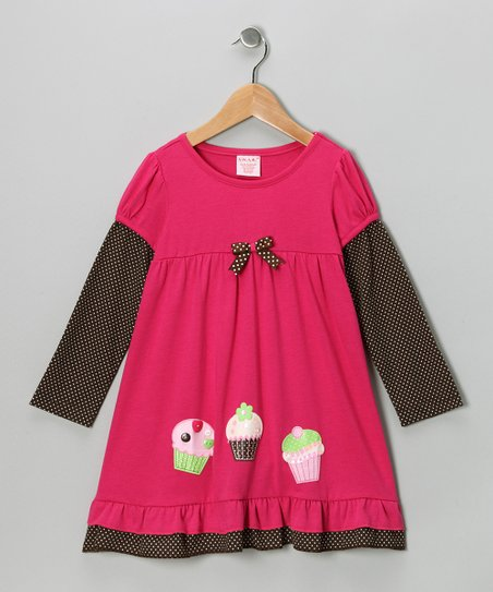 Pink Cupcake Layered Dress - Toddler & Girls