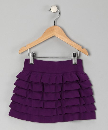 Purple Ruffle Tiered Skirt - Toddler