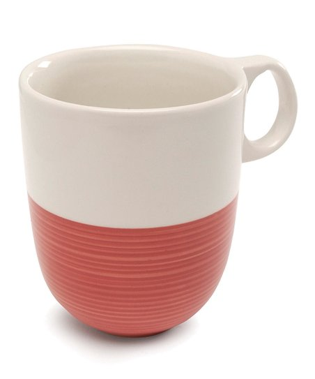 Red & White Mug - Set of Two