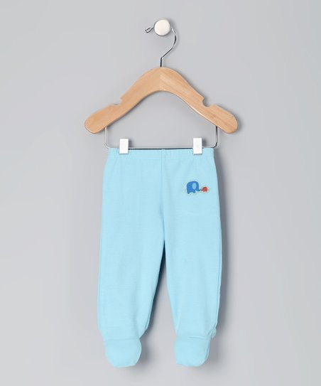 Blue Elephant Organic Footie Pants - Infant