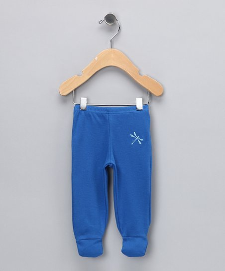 Indigo Dragonfly Organic Footie Pants