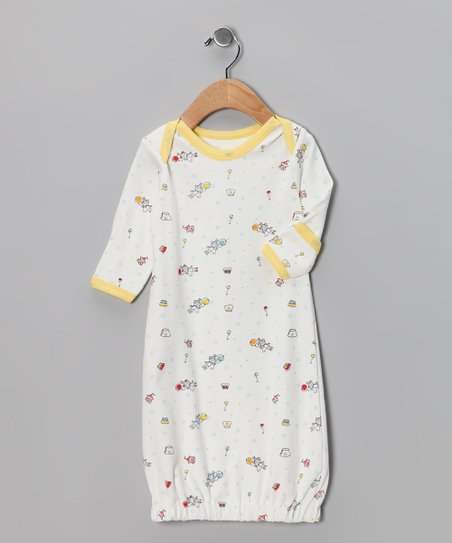 Yellow Flyaway Circus Organic Gown - Infant