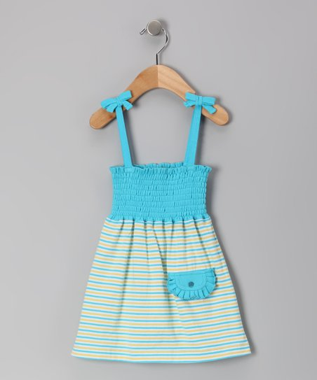 Sapphire Stripe Organic Convertible Dress - Infant & Toddler