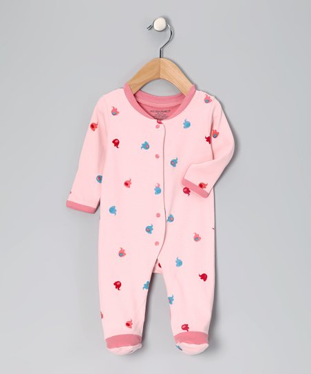 Pink Elephant Organic Footie - Infant