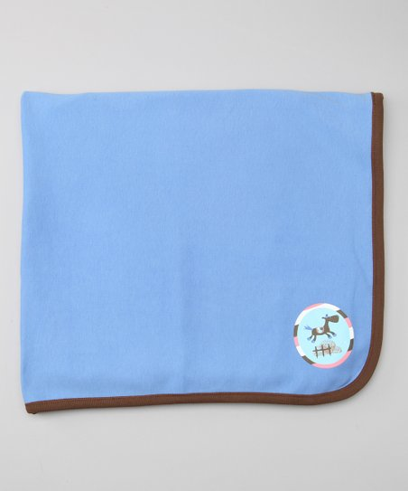 Blue Starry Starry Night Organic Stroller Blanket
