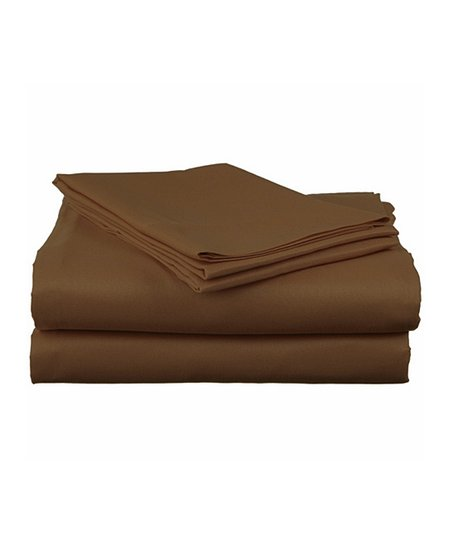 Chocolate Sateen Cotton Sheet Set
