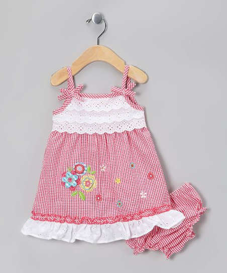 Pink Floral Eyelet Dress - Infant, Toddler &amp; Girls
