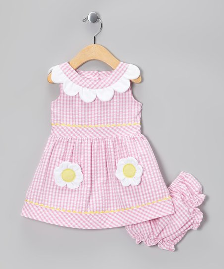 Pink Daisy Pocket Dress - Infant, Toddler & Girls