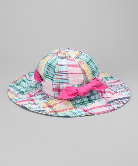 Pink Plaid Sunhat