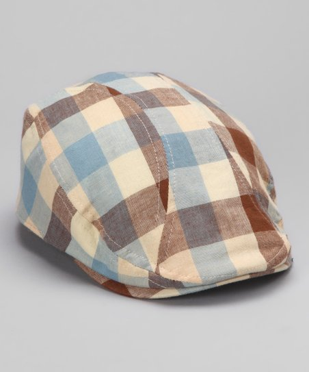 Cream Plaid Cap