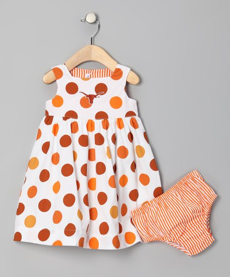 Texas Longhorns Dress & Diaper Cover - Infant & Toddler