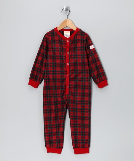 Red Plaid Dr. Denton Playsuit - Toddler &amp; Boys