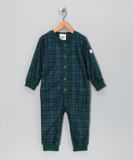 Teal Plaid Dr. Denton Playsuit - Toddler & Boys