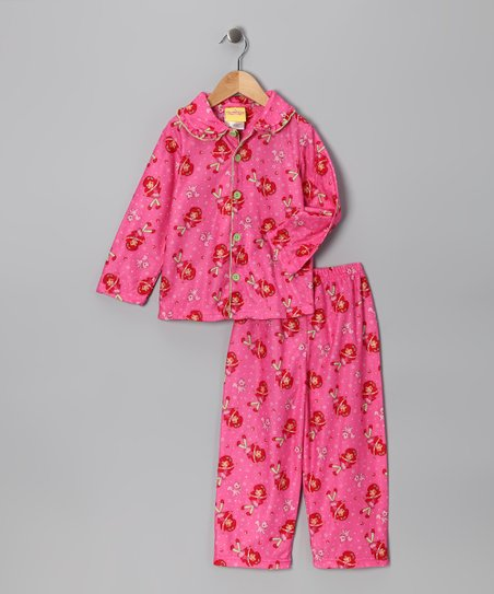 Dark Pink Strawberry Shortcake Pajama Set - Toddler & Girls