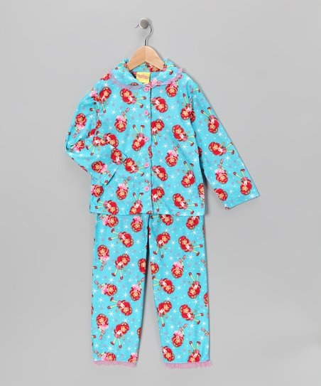 Aqua Strawberry Shortcake Pajama Set - Girls