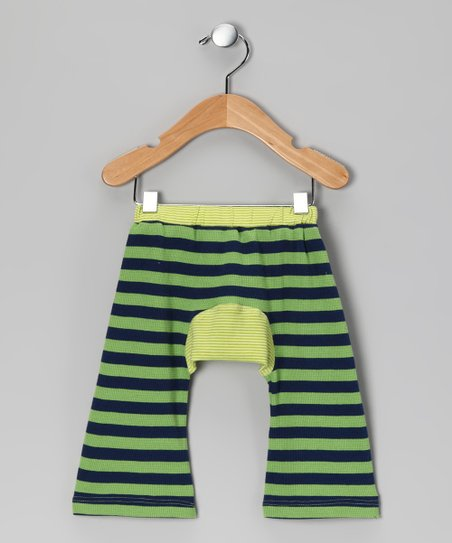 Green Stripe Organic Rugby Pants - Infant