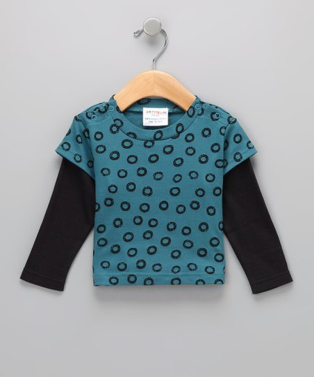 Blue Organic Layered Tee - Infant