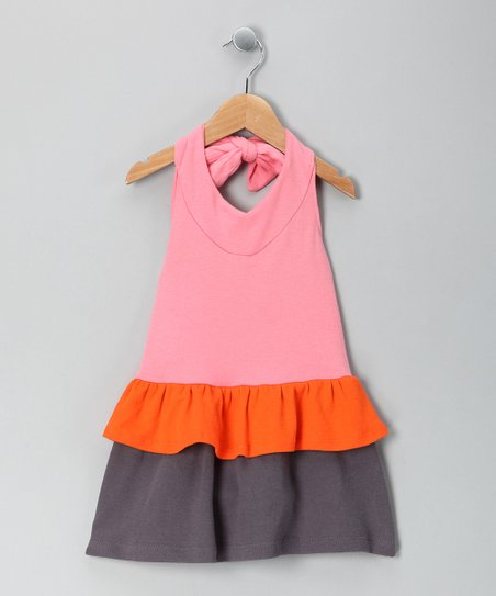 Pink Discover Organic Halter Dress - Toddler & Girls