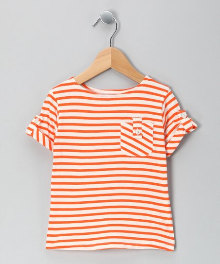 Orange Stripe Discover Organic Tee - Toddler & Kids