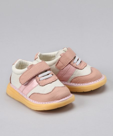 White &amp; Pink Squeaker Shoe