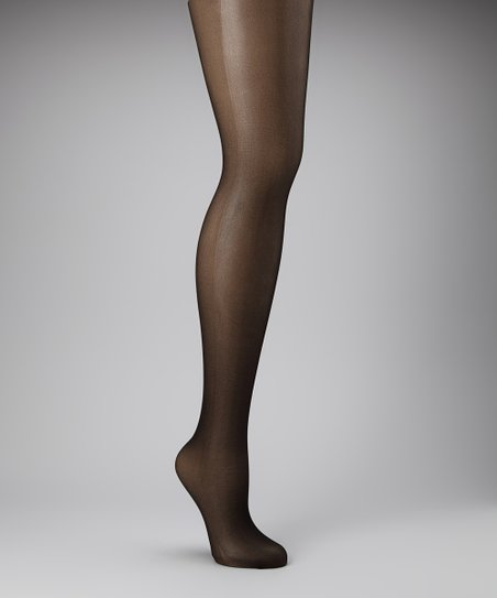 Black Back-Seam Control Top Tights - Women