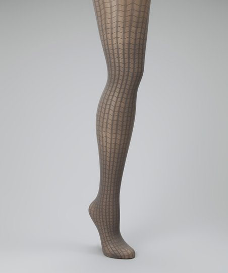 Gray Web Control-Top Shaper Tights - Women
