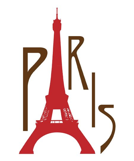 'Paris' Tower Print
