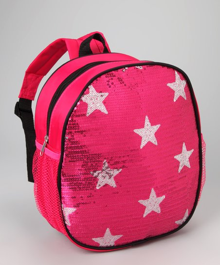Fuchsia Sequin Star Backpack