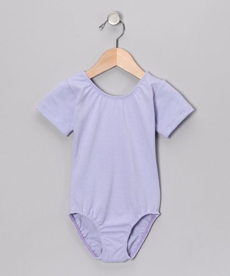 Lavender Short-Sleeve Leotard - Toddler & Girls