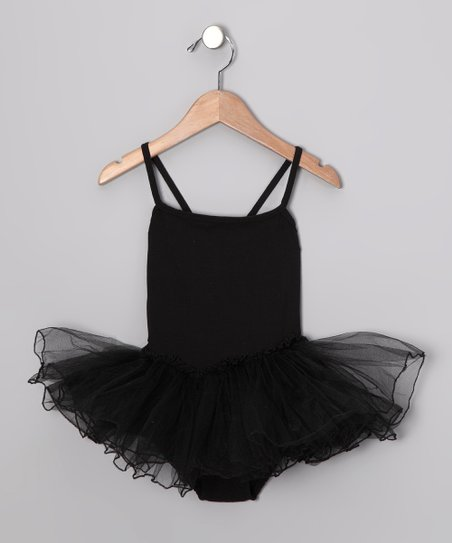 Black Skirted Leotard - Toddler & Girls