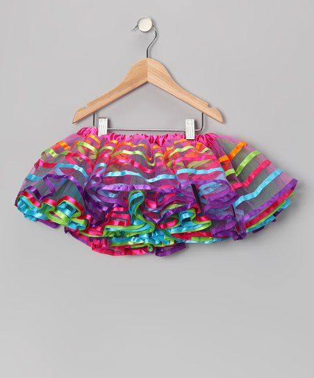 Rainbow Shiny Tulle Tutu - Toddler & Girls