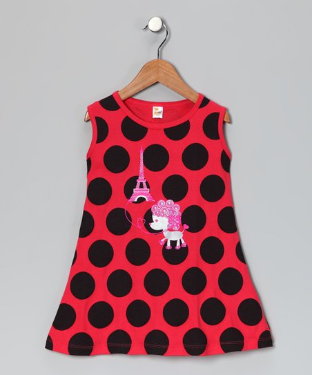 Red Polka Dot Parisian Poodle Dress - Infant, Toddler &amp; Girls