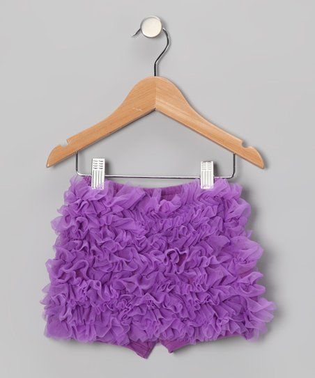 Lavender Ruffle Shorts - Toddler & Girls