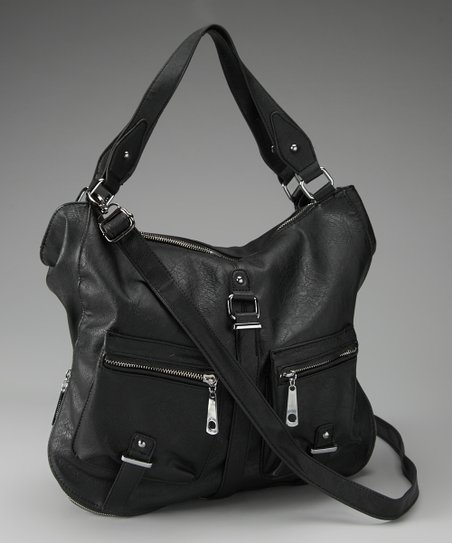 Segolene Paris Black Double Pocket Tote