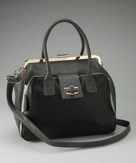 Gray & Black Two-Tone Tote