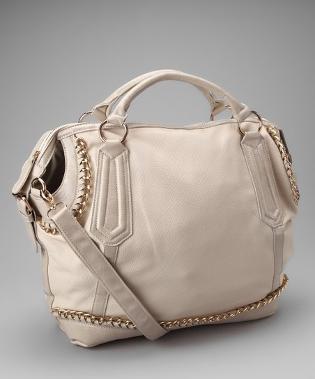 Segolene Paris Off-White Chain Satchel
