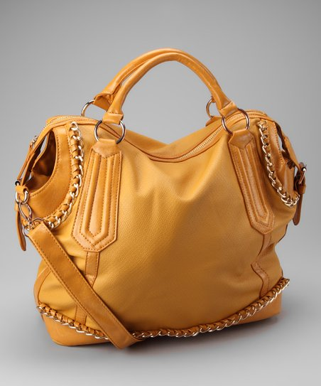 Segolene Paris Yellow Chain Satchel