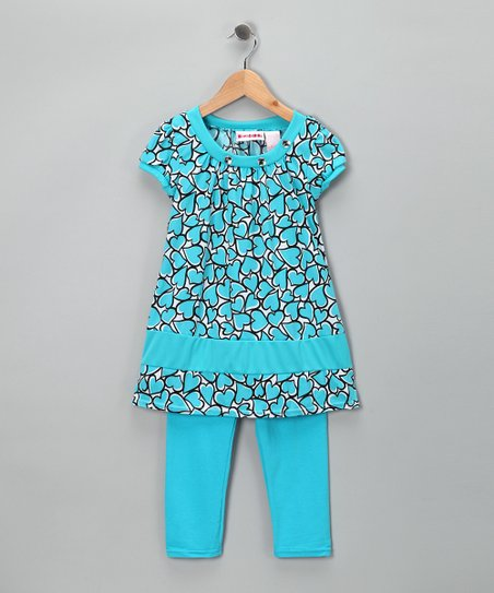 Blue Heart Tunic & Leggings - Toddler & Girls