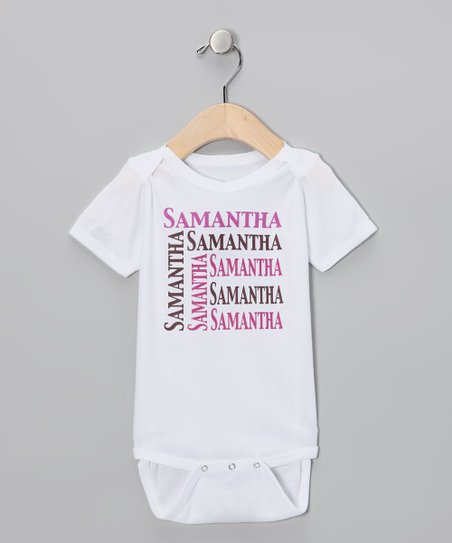 Pink & Chocolate Personalized Organic Bodysuit