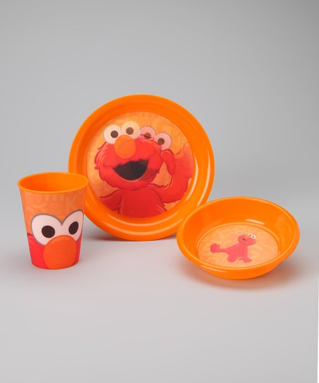 Orange Elmo Tableware Set