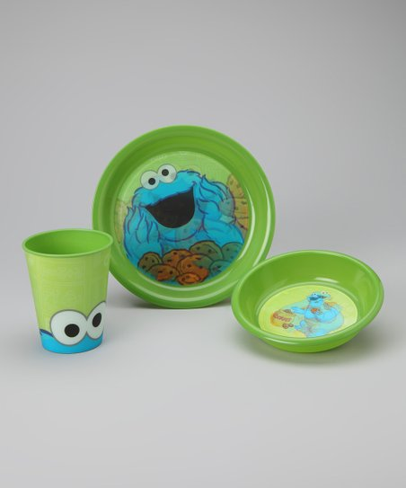 Green Cookie Monster Tableware Set