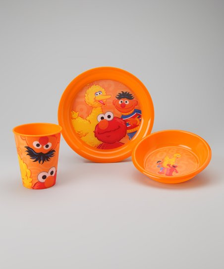 Orange Sesame Street Tableware Set