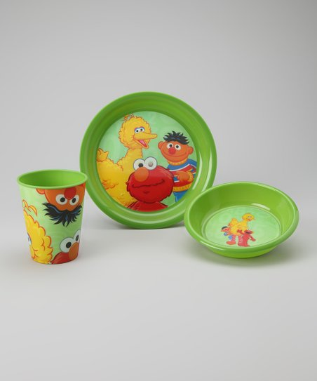Green Sesame Street Tableware Set