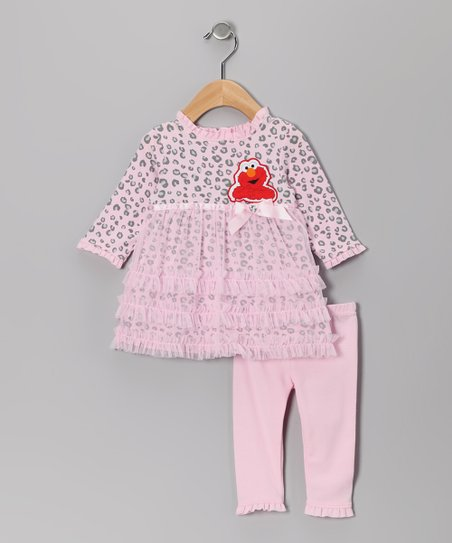 Pink Cheetah Elmo Tunic & Leggings - Infant