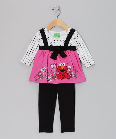 Pink Elmo Babydoll Tunic & Leggings - Infant
