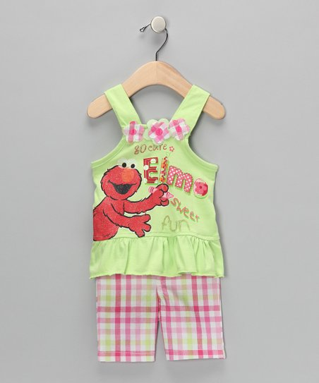 Kiwi Drawing Elmo Swing Top & Shorts - Infant & Toddler