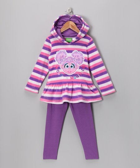 Purple Stripe Abby Cadabby Hoodie & Leggings - Infant