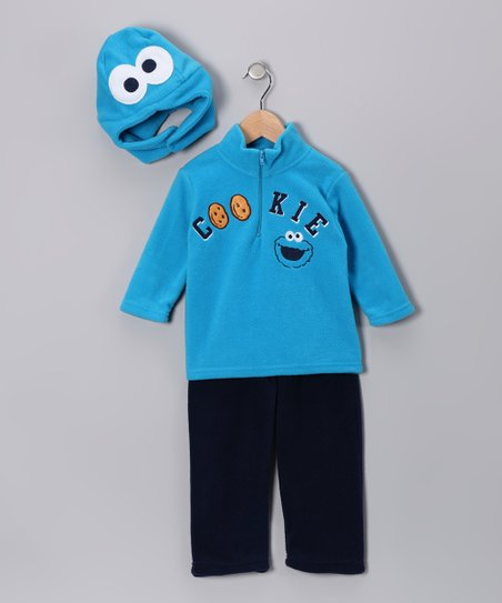 Blue Cookie Monster 'Cookie' Pants Set - Infant