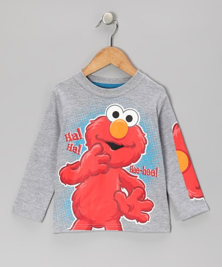 Gray Elmo 'Hee-Hee!' Tee - Toddler