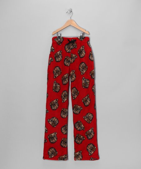 Red Bulldog Pajama Pants